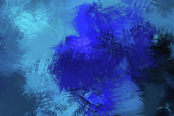 Painting - Abstract Blue Rose - Dwp165819 by Dean Wittle