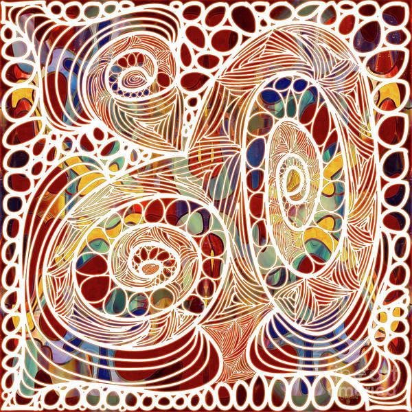 Mixed Media - Abstract Bold Colors And Joyful Circles Digital Mixed Media By Omaste Witkowski by Omaste Witkowski