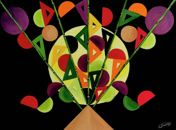Art Print featuring the painting Abstract Bouquet  by Dee Browning