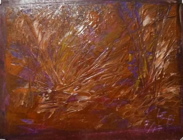 Painting - Abstract Brown Feathers by Lorraine Bradford