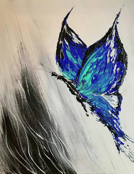 Wall Art - Painting - Abstract Butterfly by Willy Proctor