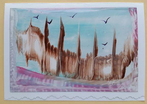Painting - Abstract Castles by Lorraine Bradford