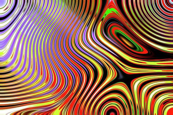 Digital Art - Abstract Chaos Funky Red by Don Northup