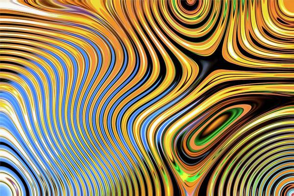 Digital Art - Abstract Chaos Orange by Don Northup