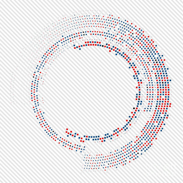 Wall Art - Digital Art - Abstract Circle Halftone Vector by T-flex