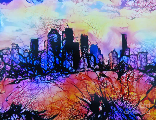 Queensland Digital Art - Abstract Cityscape by Trudee Hunter