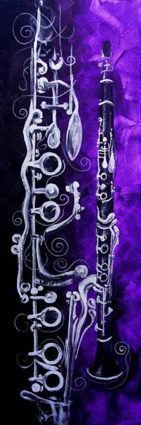 Sax Painting - Abstract Clarinet by J Vincent Scarpace