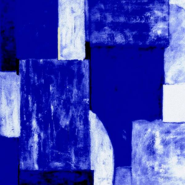 Painting - Abstract Cloudy Blue Sky by VIVA Anderson