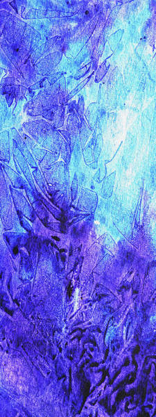 Wall Art - Painting - Abstract Cool Frosted Watercolor II by Irina Sztukowski