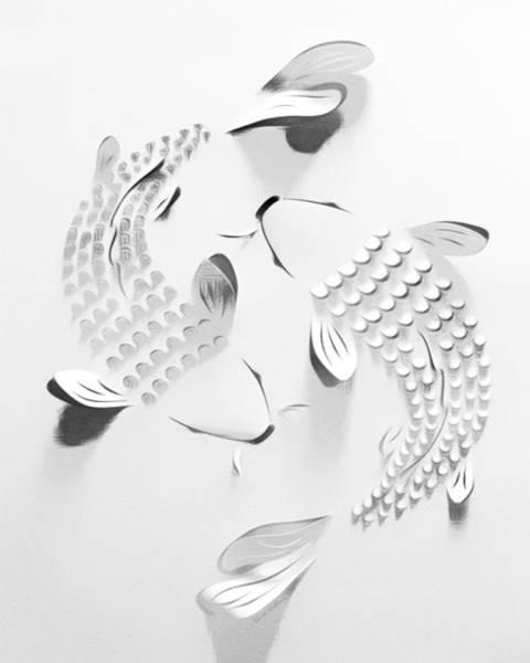 Digital Art - Abstract Dancing Koi  by Scott Wallace Digital Designs
