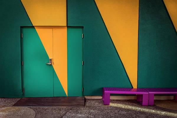 Photograph - Abstract Door by Carlos Diaz
