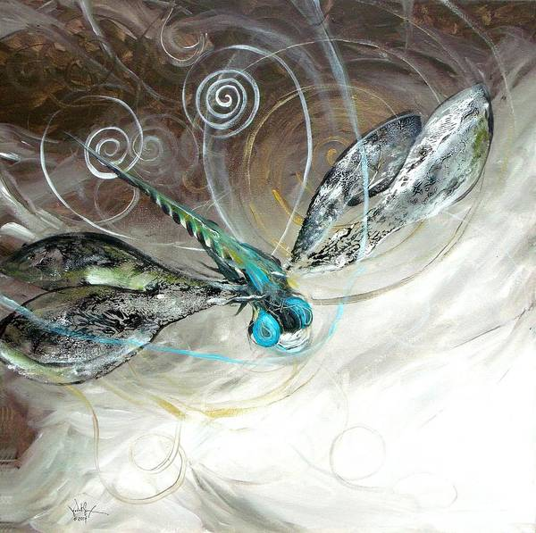 Painting - Abstract Dragonfly, Three by J Vincent Scarpace