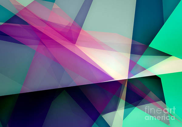Wall Art - Digital Art - Abstract Dynamic Composition by Michalis