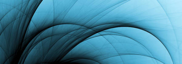 Wall Art - Photograph - Abstract Fading Blue Curves by Storman