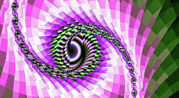Digital Art - Abstract Fantasy Eyes Purple by Don Northup
