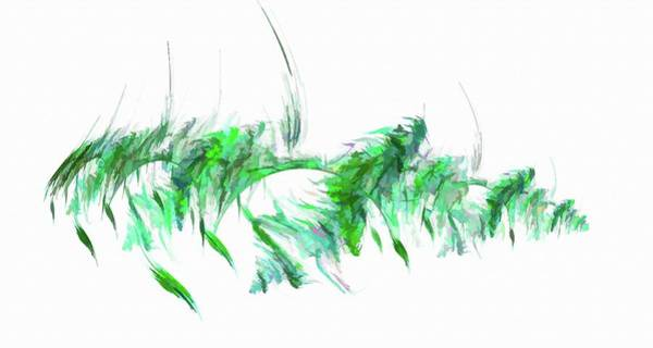 Digital Art - Abstract Feather Green by Don Northup