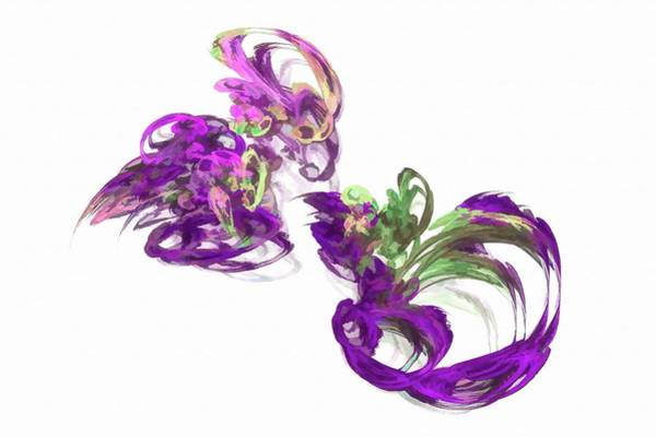 Digital Art - Abstract Figure Eight Purple by Don Northup