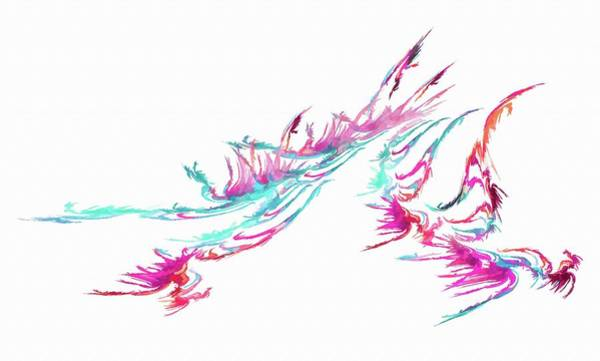 Digital Art - Abstract Flame Pink by Don Northup