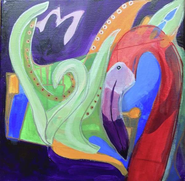 Painting - Abstract Flamingo 2 by Cherylene Henderson