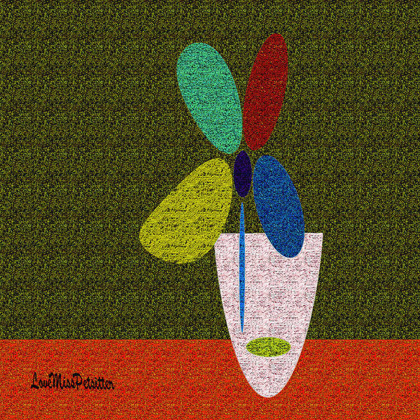 Digital Art - Abstract Floral Art 391 by Miss Pet Sitter
