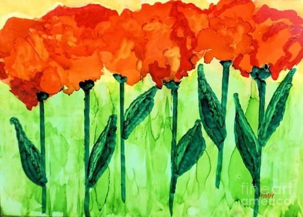 Wall Art - Painting - Abstract Flower Dance by Marsha Heiken