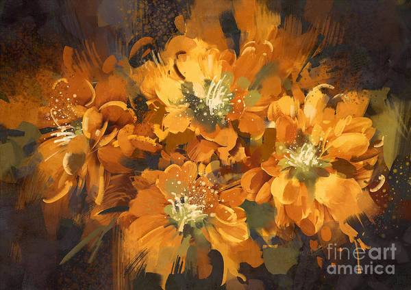 Wall Art - Digital Art - Abstract Flower Digital by Tithi Luadthong