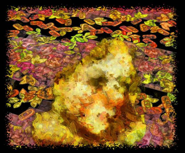 Digital Art - Abstract Flower Girl by Mario Carini