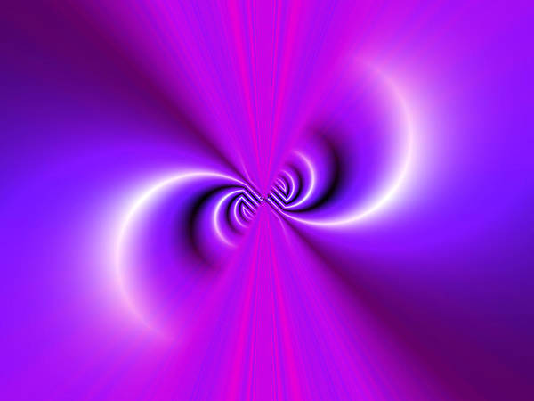 Wall Art - Photograph - Abstract Fractal Pattern In Purple by Albert Klein