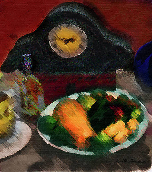 Digital Art - 	Abstract Fruit Art   140 by Miss Pet Sitter