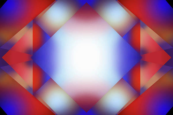Wall Art - Photograph - Abstract Glowing Overlapping Square by Ikon Images