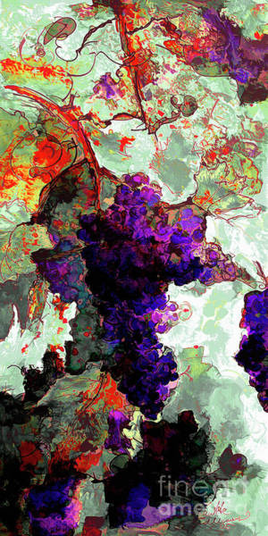 Mixed Media - Abstract Grapes Of Splendor 2 by Ginette Callaway