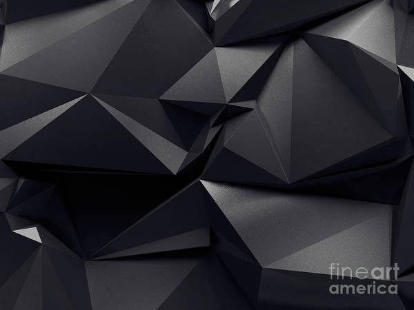 Magic Wall Art - Digital Art - Abstract Graphite Crystal Background by Wacomka