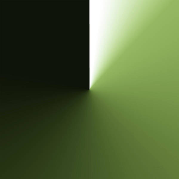 Wall Art - Photograph - Abstract Green Angle Sq Format by Thomas Woolworth