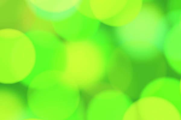 Wall Art - Photograph - Abstract Green Light Pattern by Emrah Turudu