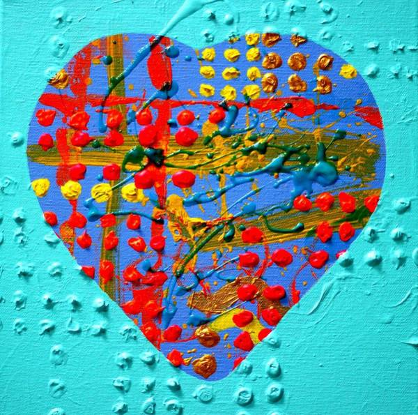 Wall Art - Painting - Abstract Heart IIi by John  Nolan