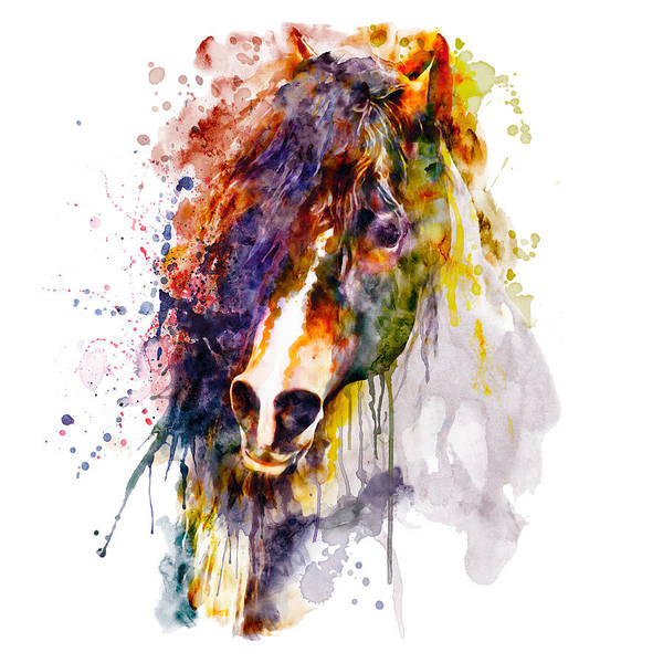 Wall Art - Painting - Abstract Horse Head by Marian Voicu