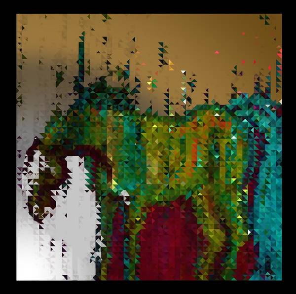 Wall Art - Digital Art - Abstract Horse In The Rain by Joan Stratton