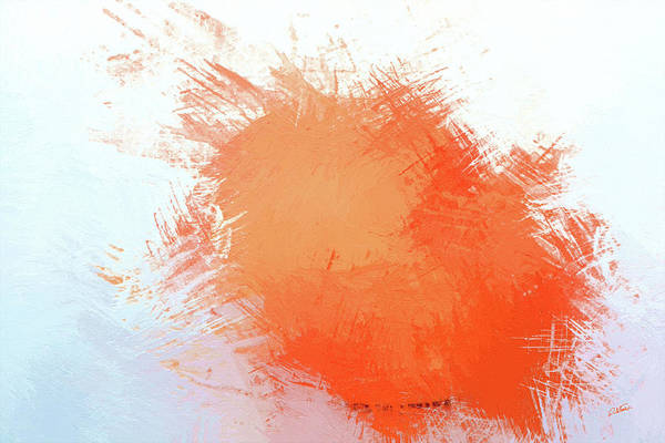 Painting - Abstract In Orange 2 - Dwp215490 by Dean Wittle