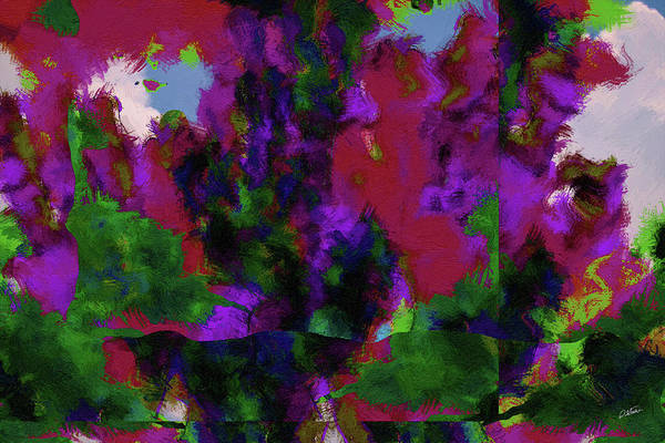 Painting - Abstract In Purple And Green - Dwp6004971 by Dean Wittle