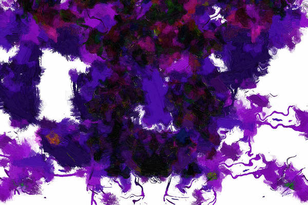 Painting - Abstract In Purple - Dwp3018481 by Dean Wittle