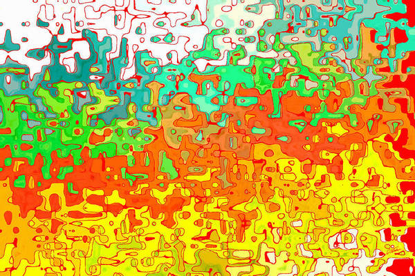 Painting - Abstract In Red Orange Yellow And Green - Dwp12386061 by Dean Wittle