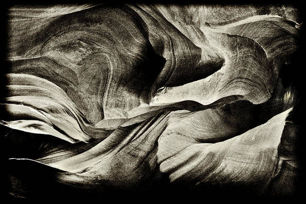Photograph - Abstract In Sandstone Slots by Paul W Faust - Impressions of Light