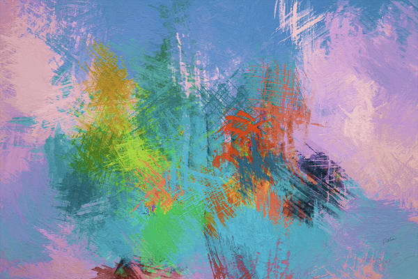 Painting - Abstract In Shades Of Blue And Yellow - Dwp6004972 by Dean Wittle