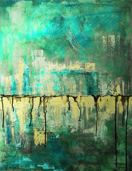 Painting - Abstract In Yellow And Green 2 by Jocelyn Friis