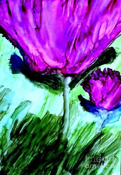 Wall Art - Digital Art - Abstract Ink Flower by Marsha Heiken