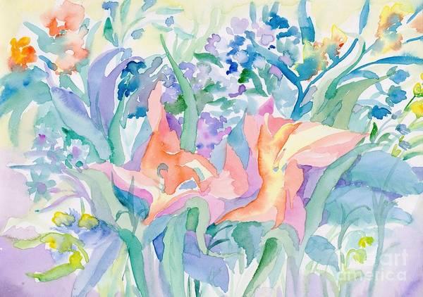 Painting - Abstract Lilies by Irina Dobrotsvet