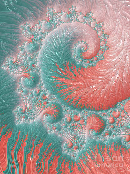 Bahamas Digital Art - Abstract Living Coral Reef by Anna Bliokh