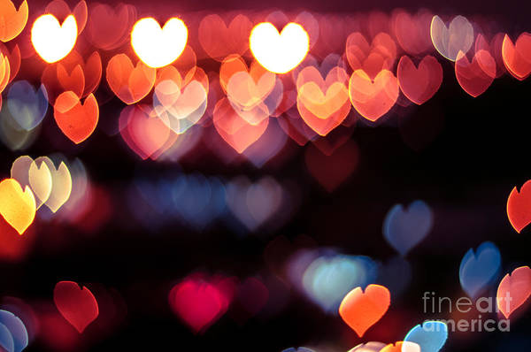 Wall Art - Photograph - Abstract Love Or Heart Shape Bokeh by Azrisuratmin