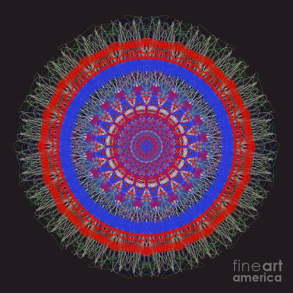 Painting - Abstract Mandala Sphere by Catherine Lott