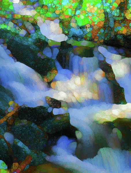 Painting - Abstract Monet Waterfall by Dan Sproul